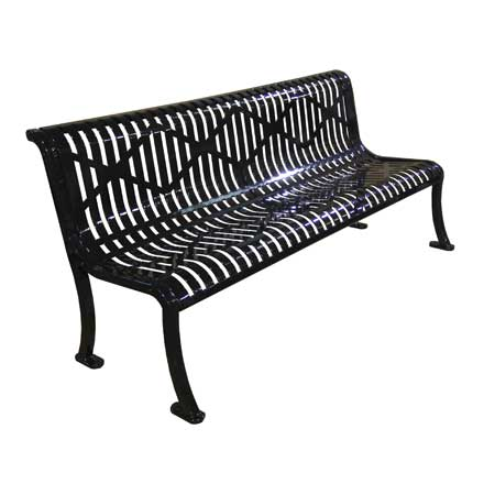Armless Steel Commercial Park Bench Kit For Sale Made In Usa