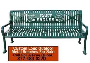 Custom Logo Outdoor Metal Benches