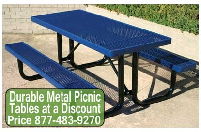 Discount Durable Metal Picnic Tables For Sale Cheap Wholesale Prices.  Outdoor Locations ...