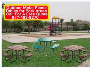 Outdoor Metal Picnic Tables For Park Areas For Sale In Austin, Texas