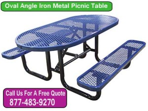Oval Angle Iron Picnic Tables - Discount Dealer Sales Made In America