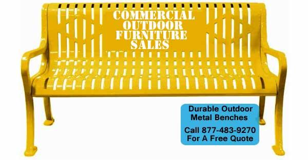 Durable Outdoor Metal Benches