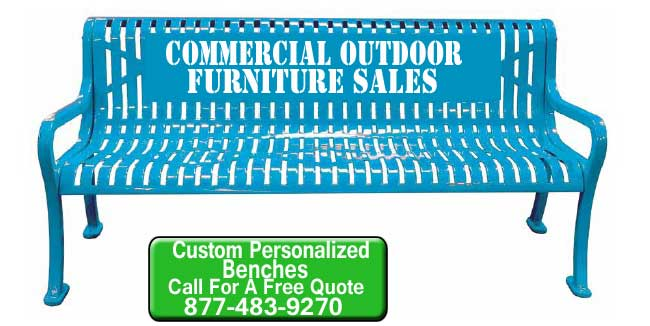 Commercial Outdoor Custom Personalized Park Benches For Sale At Discounted Prices In Austin, Buda, Westgate And Hays Texas