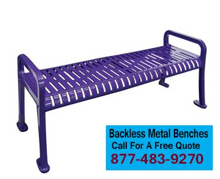 Backless Metal Benches For Sale In Austin, HOuston, San Antonio, Waco Texas