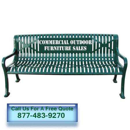 Custom Logo Metal Benches Archives Commercial Outdoor Furniture Sales