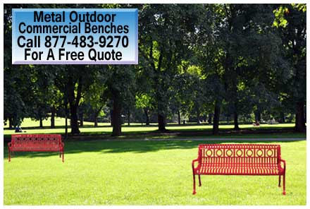 Outdoor Metal Benches Commercial Outdoor Furniture Sales