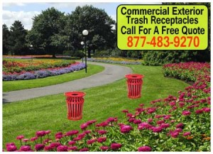 Discount Do It Yourself Commercial Exterior Trash Receptacles For Sale - Cheap Discounted Pricing
