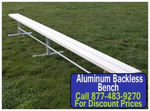 Discount Aluminum Backless Benches For Sale Cheap Wholesale Prices