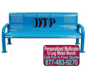Multicolored Personalized Meta Benches On Sale Now!