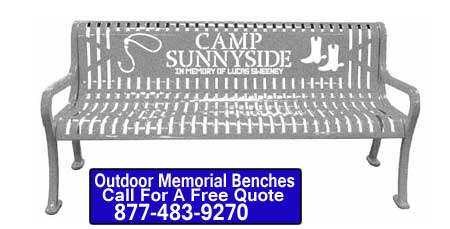 Custom Designed Outdoor Memorial Benches For Sale At Affordable Prices