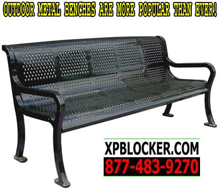 Outdoor metal benches are more popular than ever call for Outdoor furniture quotes