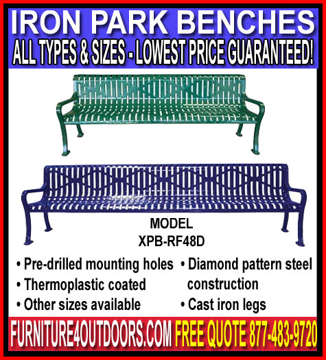 Discount Commercial Iron Park Benches For Sale Direct From The Factory