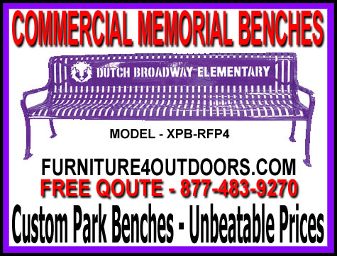 Discount Custom Memorial Park Benches For Sale Factory Direct Prices